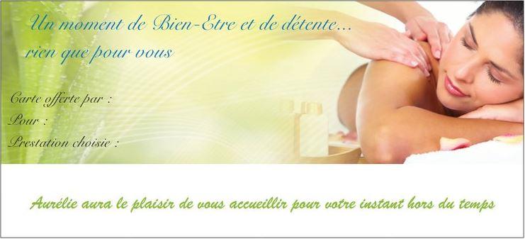 Carte Cadeau Massage Arras